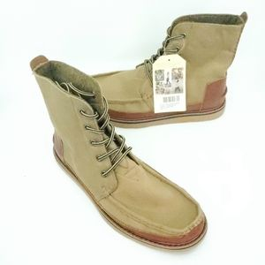 Toms Mens Searcher boots Wheat brown lace up